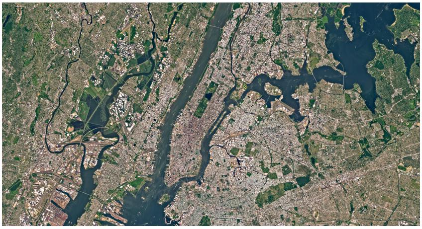 new york satellite view