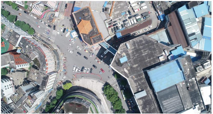 Vertical aerial photo